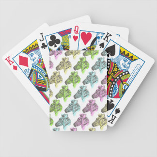 Bright Zebra Pattern Playing Cards