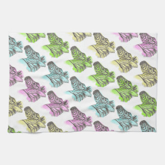 Bright Zebra Pattern Tea Towel