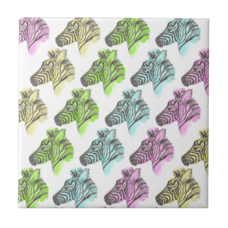 Bright Zebra Pattern Tile