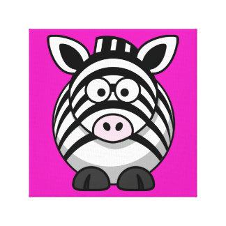 Bright Zebra Print Stretched Canvas Prints