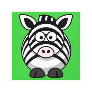 Bright Zebra Print Canvas Prints