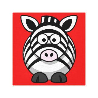 Bright Zebra Print Stretched Canvas Print