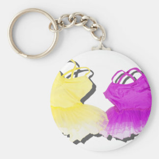 BrightColorfulTutus030111 Basic Round Button Key Ring