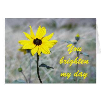 Brighten my day with Dune Sunflower Card