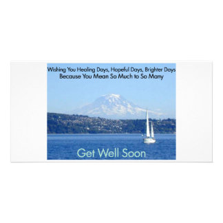 Brighter Days Sailboat Personalized Photo Card