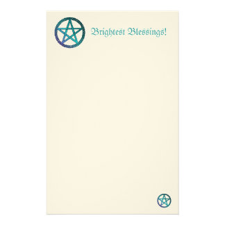Brightest Blessings Pentacle Stationary paper Custom Stationery