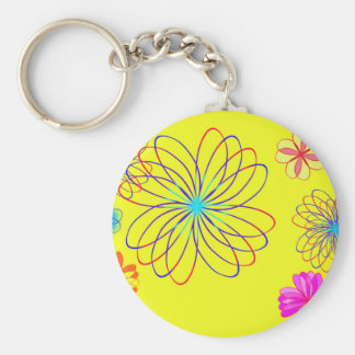 Brightly Basic Round Button Key Ring