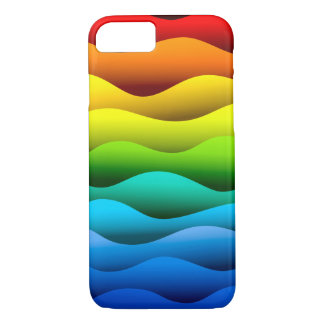 Brightly Color Waves Design iPhone 7 Case