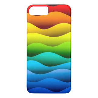 Brightly Color Waves iPhone 7 Plus Barely There iPhone 7 Plus Case