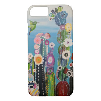 Brightly Colored Abstract Cactuses iPhone 8/7 Case
