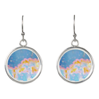 Brightly Colored Abstract Earrings