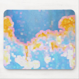 Brightly Colored Abstract Pattern Mouse Mat