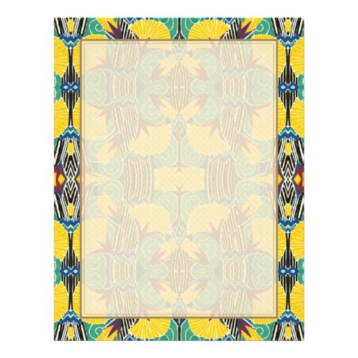Brightly Colored Art Deco Pattern Personalized Flyer