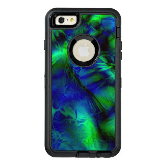 Brightly Colored Blue and Green Abstract Pattern OtterBox Defender iPhone Case
