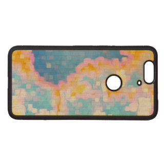 Brightly Colored Blue Pink Yellow Abstract Wood Nexus 6P Case