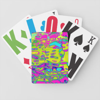 Brightly Colored Crazy Colorful Abstract Pattern Bicycle Playing Cards