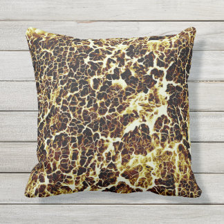 Brightly Colored Crazy Colorful Abstract Pattern Outdoor Cushion