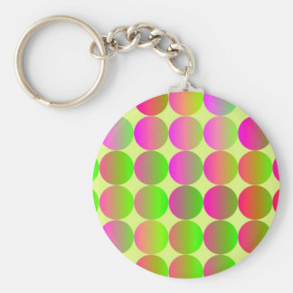 Brightly Colored Dots Basic Round Button Key Ring