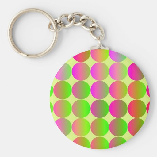 Brightly Colored Dots Key Chains