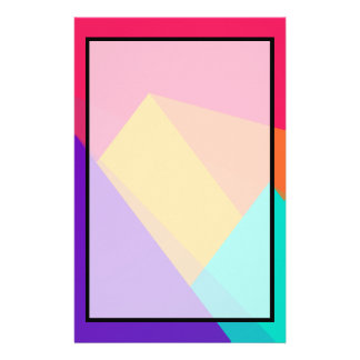 Brightly Colored Geometric Triangles and Pyramids Personalized Stationery