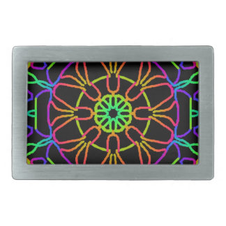 Brightly Colored Kaleidoscope Belt Buckles
