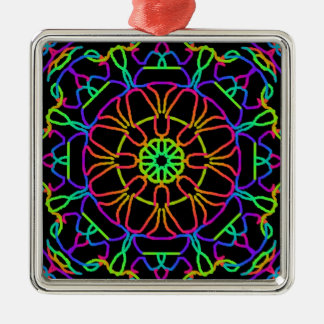 Brightly Colored Kaleidoscope Christmas Ornament