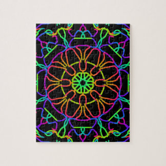 Brightly Colored Kaleidoscope Jigsaw Puzzle