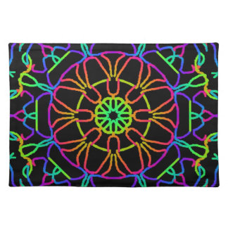 Brightly Colored Kaleidoscope Placemat