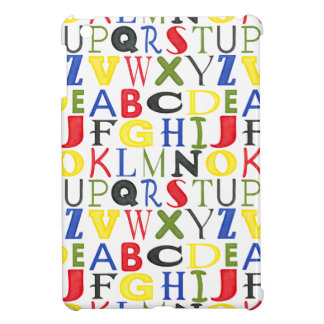 Brightly Colored Letters by Megan Meagher Cover For The iPad Mini