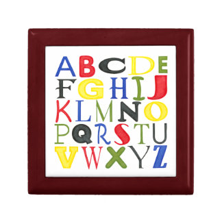 Brightly Colored Letters by Megan Meagher Gift Box