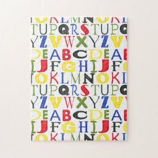 Brightly Colored Letters by Megan Meagher Jigsaw Puzzle