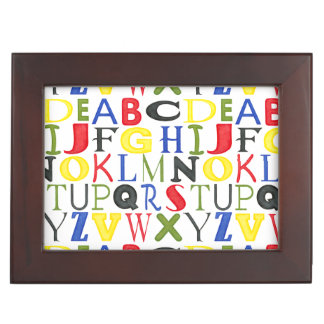 Brightly Colored Letters by Megan Meagher Keepsake Box