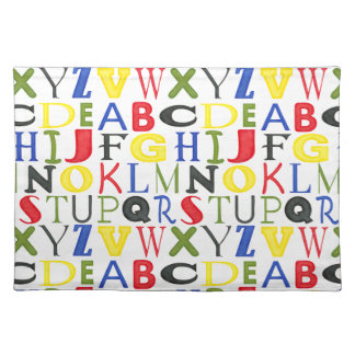 Brightly Colored Letters by Megan Meagher Placemat