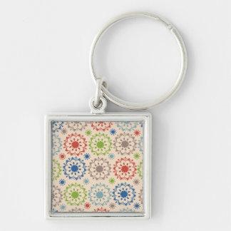 Brightly Colored Medallion Design Key Chain