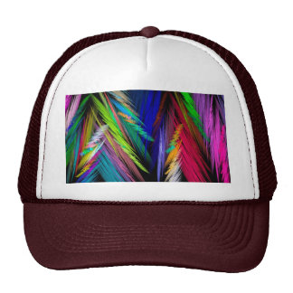 Brightly Colored Psychedelic Modern Art Trucker Hats