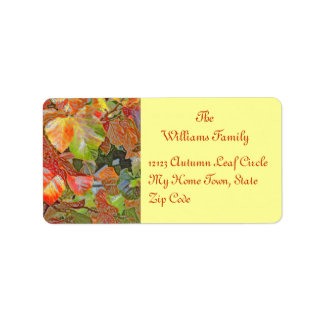 """BRIGHTLY COLORED SHINY LEAVES"" (DIGIT. MANIP.) ADDRESS LABEL"