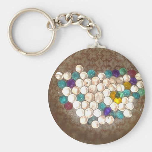 Brightly colored silica gel balls keychain