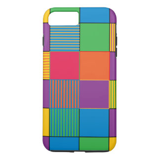 Brightly Colored Squares and Stripes iPhone 8 Plus/7 Plus Case