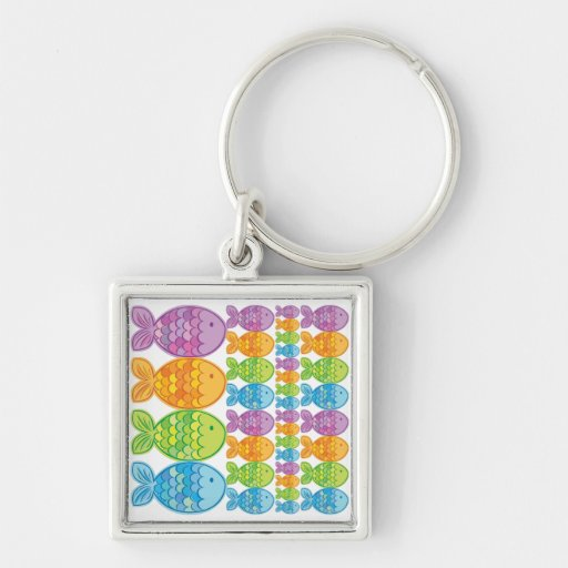 Brightly Coloured Fish Keychains
