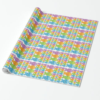 Brightly Coloured Fish Wrapping Paper
