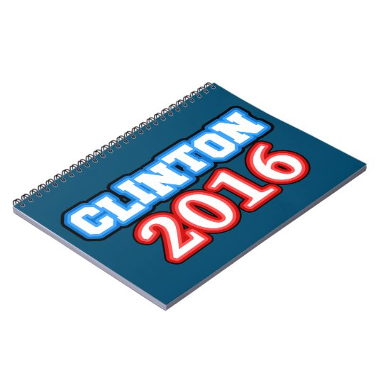 Brightly Coloured Hillary Clinton 2016 Notebook