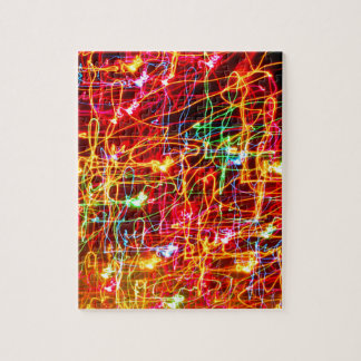 BRIGHTLY COLOURED LIGHT SWIRLS JIGSAW PUZZLE