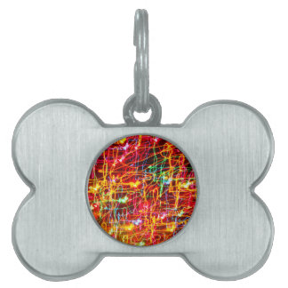 BRIGHTLY COLOURED LIGHT SWIRLS PET NAME TAG