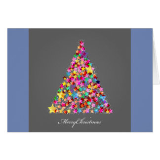 Brightly Lit Christmas Tree Christmas Card