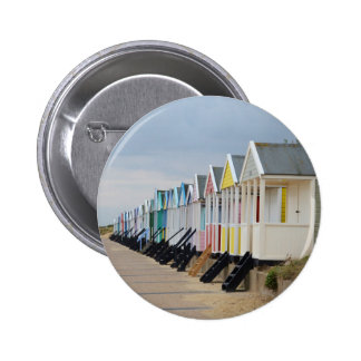 Brightly Painted Beach Huts 6 Cm Round Badge