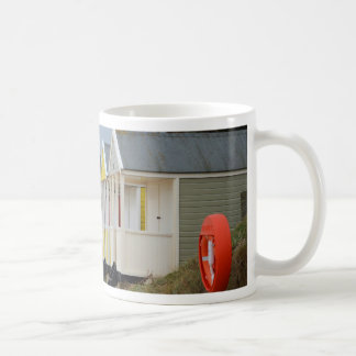 Brightly Painted Beach Huts Basic White Mug