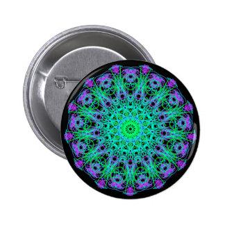 Brightness of Blue Mandala Mania Pinback Button
