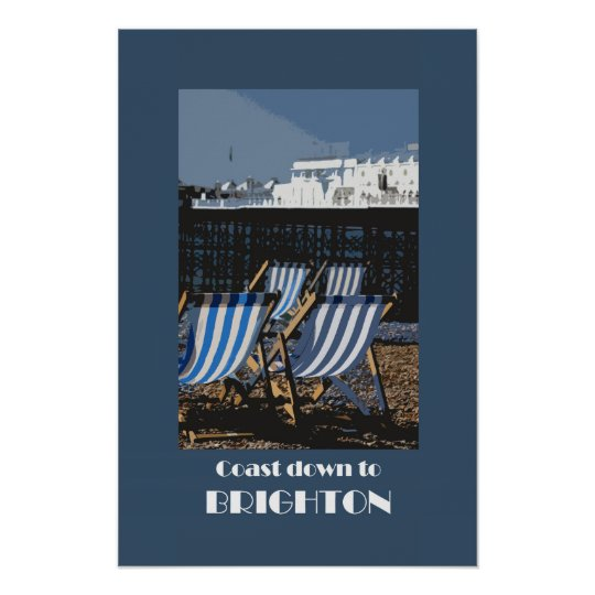Brighton 1920s retro-style poster