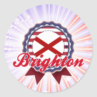 Brighton, AL Round Sticker