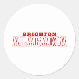 Brighton, Alabama City Design Round Stickers